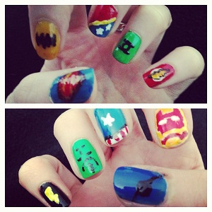 superhero nails